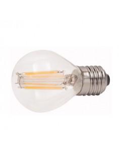 Lampada a filamento led 4W bianco caldo miniglobo E27 diametro 45 mm