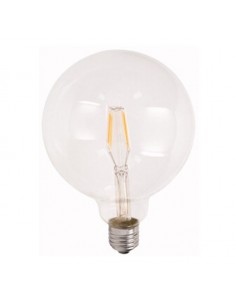 Lampada a filamento led 7W bianco caldo globo E27 - G125 diametro 125 mm