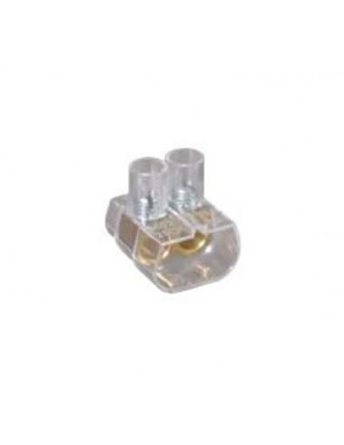 Morsetto unipolare 6 mmq volante 2 fori E-BLOKS EBS2/60