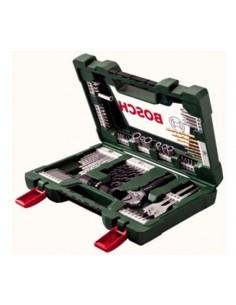 """Set avvitamento e foratura Titanium """" V-LINE"""" 83 pezzi con torcia tascabile a led e chiave a rullino Bosch"""
