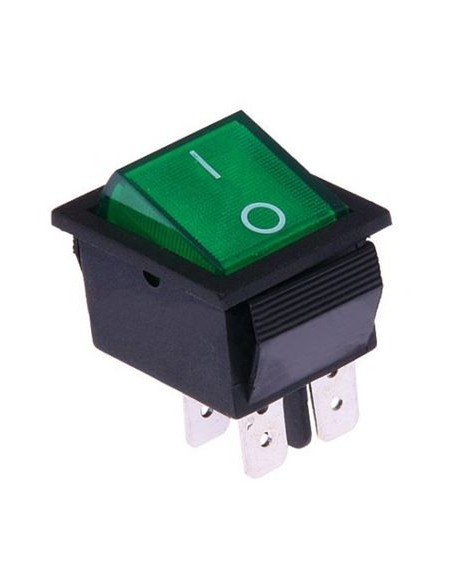 Interruttore bipolare luminoso 15A - 250V verde