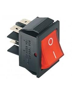 Interruttore bipolare luminoso 15A - 250V rosso