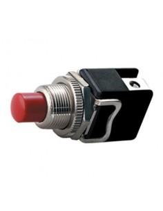 Pulsante 4A-250VCA con autoritorno normalmente aperto rosso