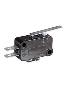 Deviatore miniatura 5A-250V fine corsa con leva per faston 4,8