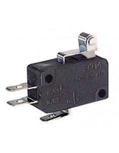 Deviatore miniatura 5A-250V fine corsa con leva corta e rotella per faston 4,8