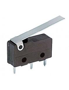Microdeviatore 3A-125V fine corsa con leva lunga per circuiti stampati