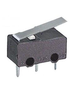 Microdeviatore 1A-125V fine corsa con leva corta per circuiti stampati