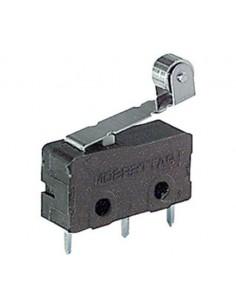Microdeviatore 5A-250V fine corsa con leva e rotella per circuiti stampati