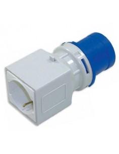 Adattatore spina industriale 2P+T 16A 6h - presa schuko bip. 10/16A