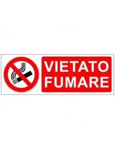 Cartello vietato fumare 350X125 in alluminio