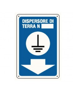 Cartello dispersore di terra 165X250 in alluminio