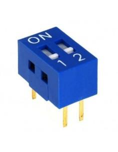 Dip switch 2 poli per circuiti stampati passo 2,54 mm TCS