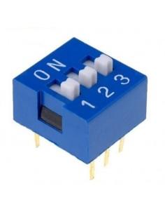 Dip switch 3 poli per circuiti stampati passo 2,54 mm TCS