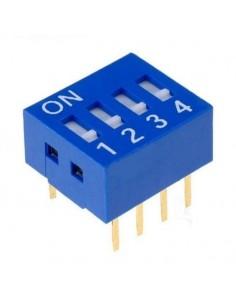 Dip switch 4 poli per circuiti stampati passo 2,54 mm TCS