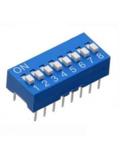 Dip switch 8 poli per circuiti stampati passo 2,54 mm TCS