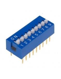 Dip switch 9 poli per circuiti stampati passo 2,54 mm TCS