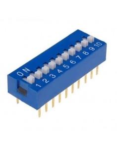 Dip switch 10 poli per circuiti stampati passo 2,54 mm TCS