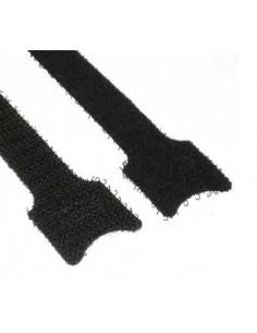 Fascette in velcro 12 X 125 mm nere confezione 10 pz