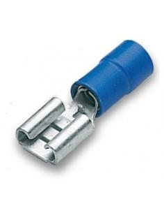 Capicorda preisolato 6,35x0,8 ad innesto femmina blu CEMBRE BF-F608 confezione 100 pz