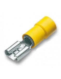 Capicorda preisolato 6,35x0,8 ad innesto femmina giallo CEMBRE GF-F608 confezione 100 pz