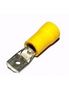 Capicorda preisolato 6,35x0,8 ad innesto maschio giallo CEMBRE GF-M608 confezione 100 pz