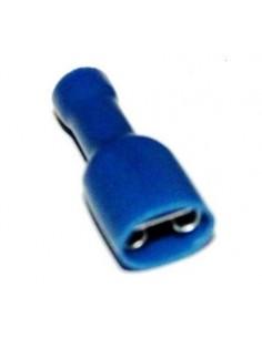 Capicorda 6,35x0,8 totalmente preisolato ad innesto femmina blu CEMBRE BF-F608P confezione 100 pz