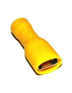 Capicorda 6,35x0,8 totalmente preisolato ad innesto femmina giallo CEMBRE GF-F608P confezione 100 pz