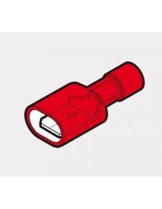 Capicorda 6,35x0,8 totalmente preisolato ad innesto maschio rosso CEMBRE RF-M608P confezione 100 pz
