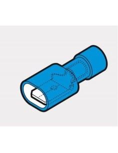 Capicorda 6,35x0,8 totalmente preisolato ad innesto maschio blu CEMBRE BF-M608P confezione 100 pz